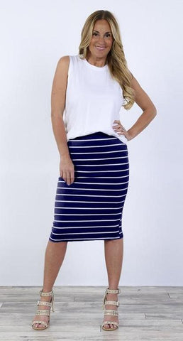 Striped Midi Skirt | More Color Options