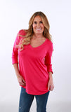 3/4 Sleeve High Quality V Neck | S-XL