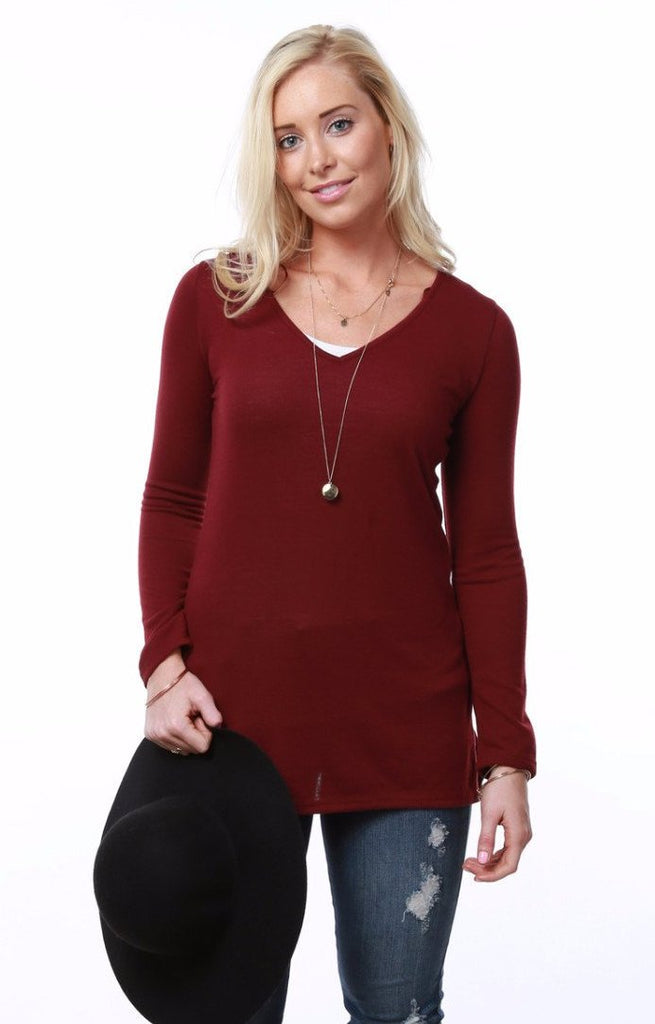 V-Neck Light Sweater | PLUS sizes too
