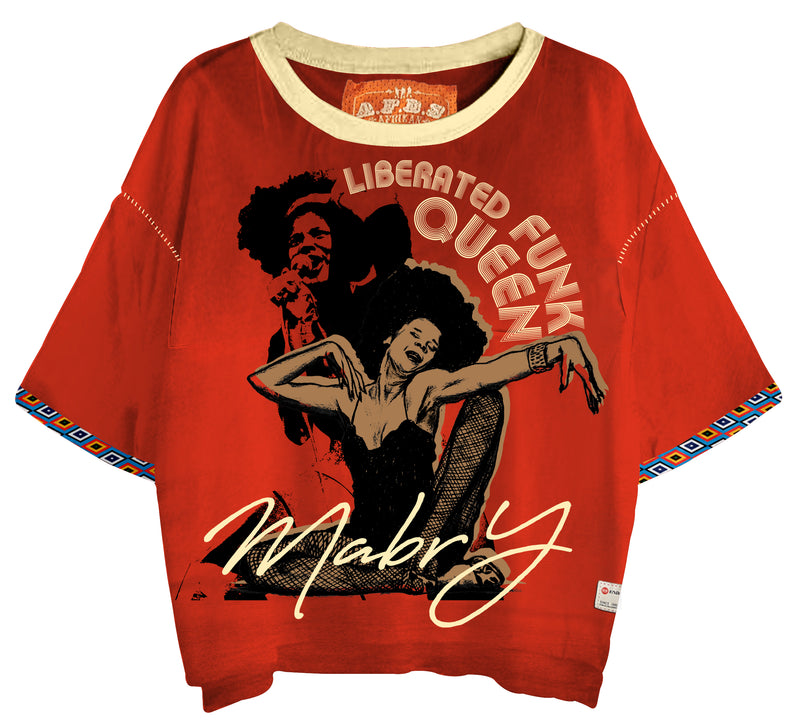 LIBERATED FUNK QUEEN OVERSIZED TEE - magents