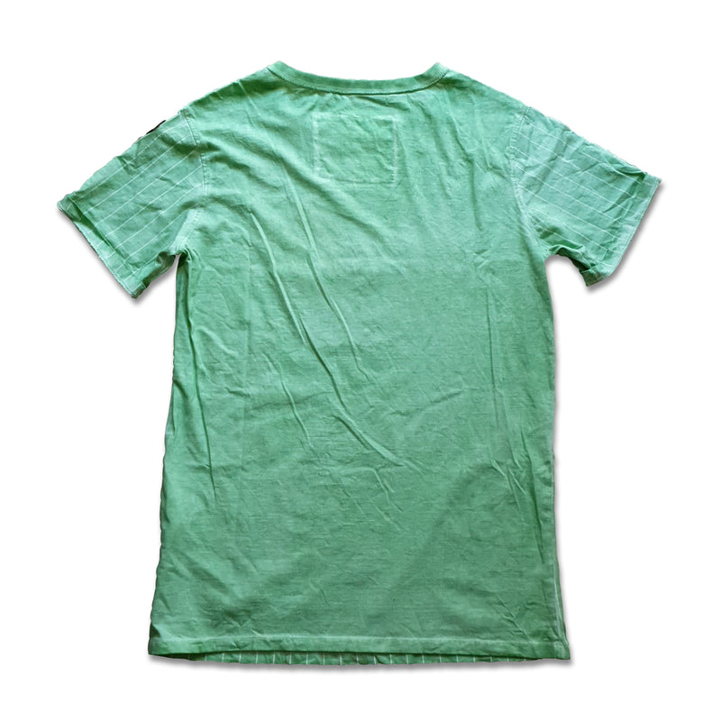 Camo Circle Grass Green Mens tee