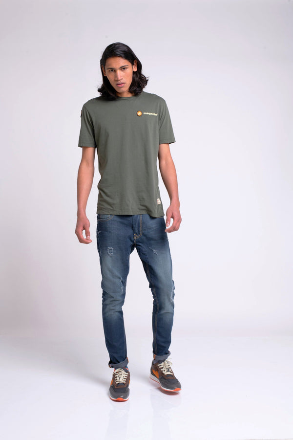 SIGNATURE CREW NECK TEE - KHAKI - magents