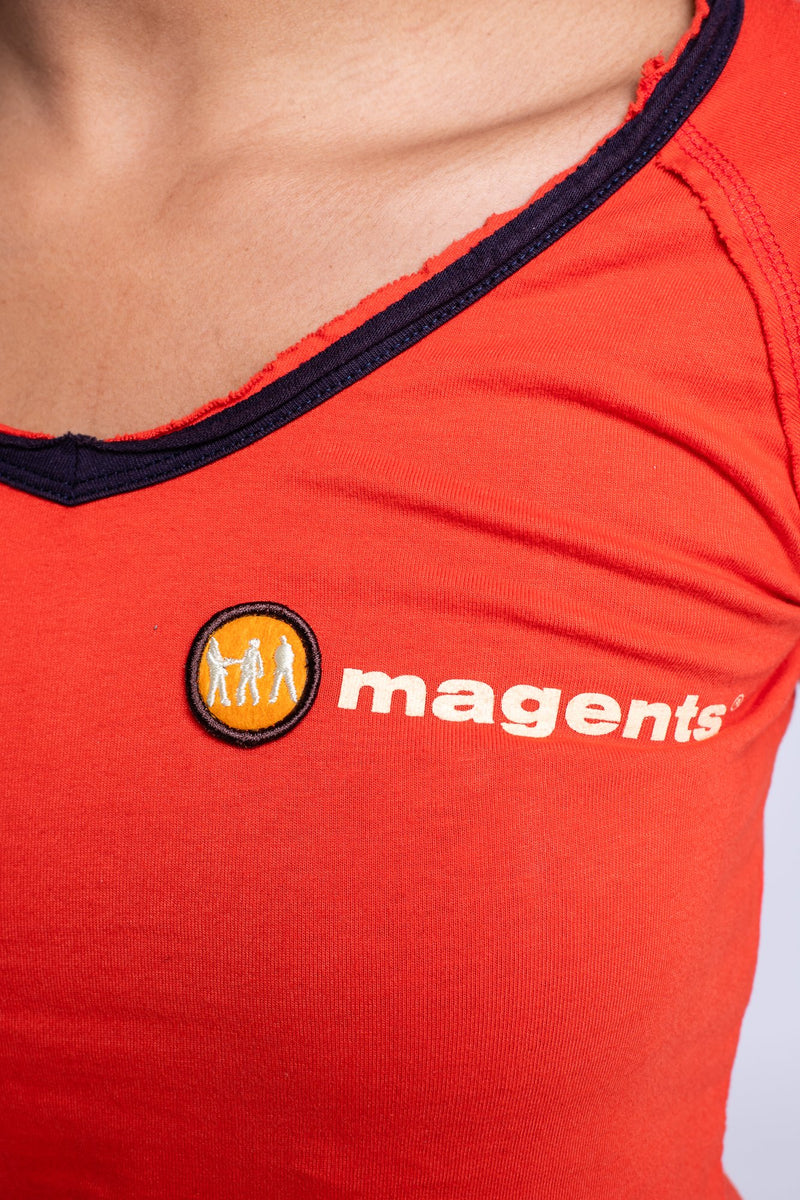 MAGENTS LADIES CREW NECK TEE - ORANGE - magents