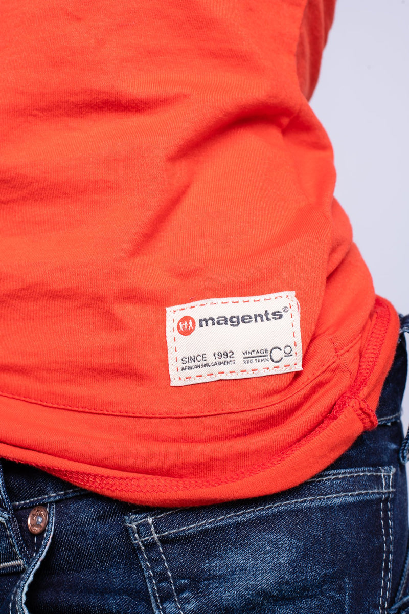 MAGENTS LADIES CREW NECK TEE - ORANGE