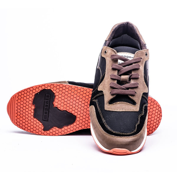 ACHUZE SPORTS SNEAKER - BLACK AND BROWN - magents