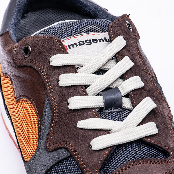 ACHUZE SPORT SNEAKER - GREEN AND BROWN - magents
