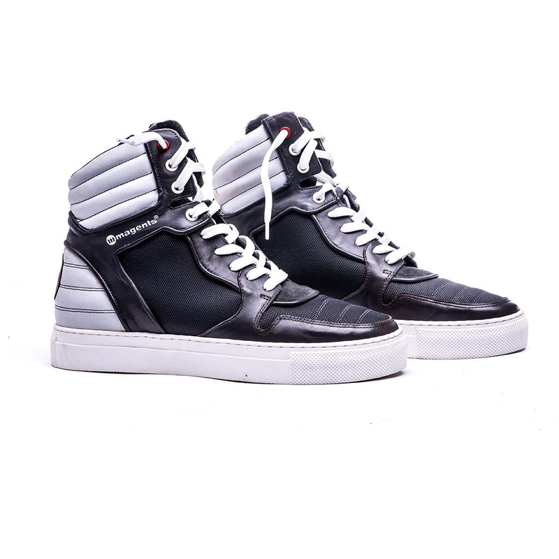 MOJA HIGH TOP BOOT - GREY - magents