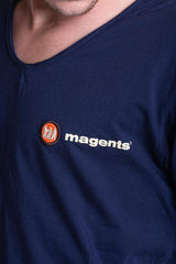 SIGNATURE LOGO TEE IN NAVY - magents