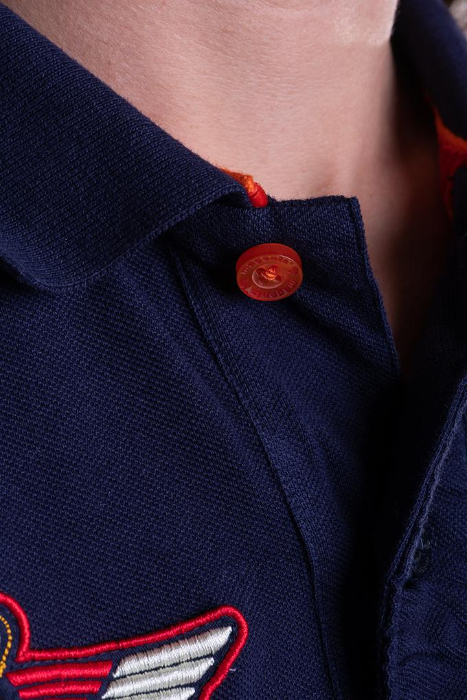 BADGE POLO IN NAVY - magents