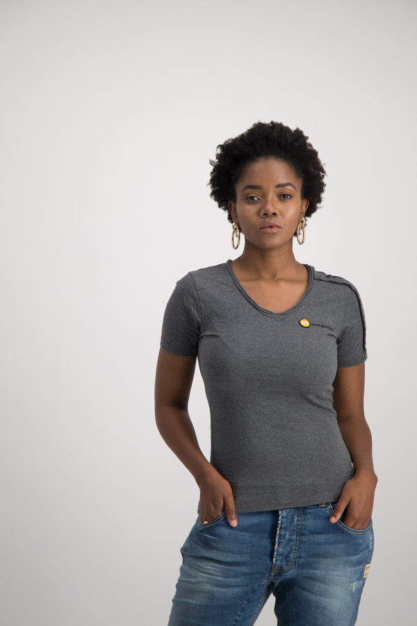 Comfy Grey Signature Tee - magents