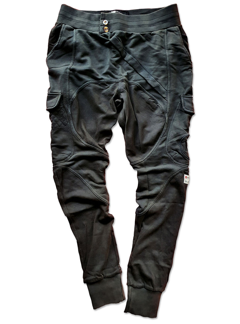 MULTI PANEL SWEATPANTS - BLACK