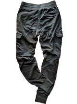 MULTI PANEL SWEATPANTS - BLACK - magents