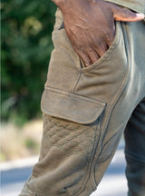 MULTI PANEL SWEATPANTS - OLIVE - magents