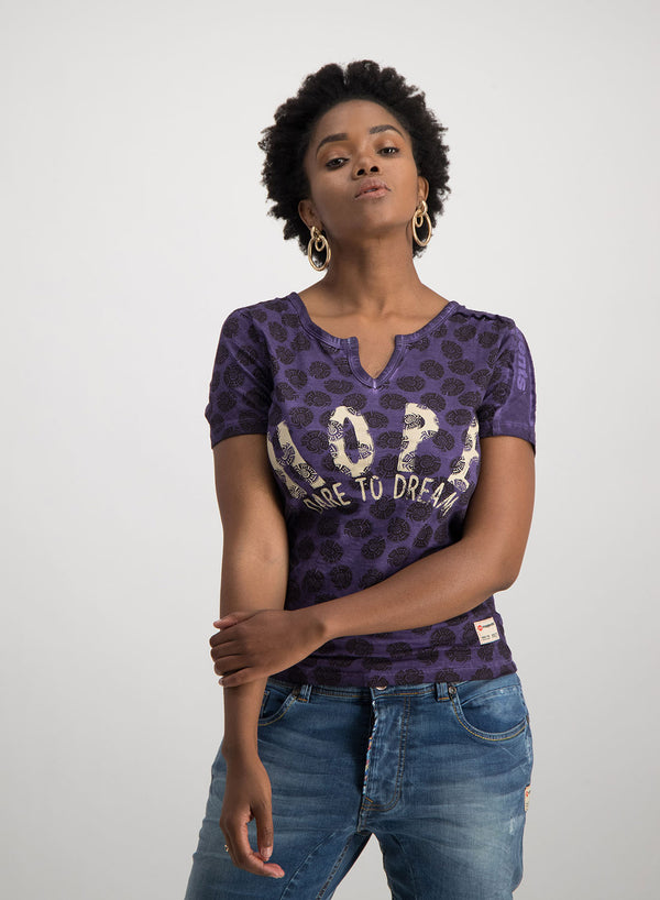 HOPE DARE TO DREAM T-SHIRT - PURPLE - magents