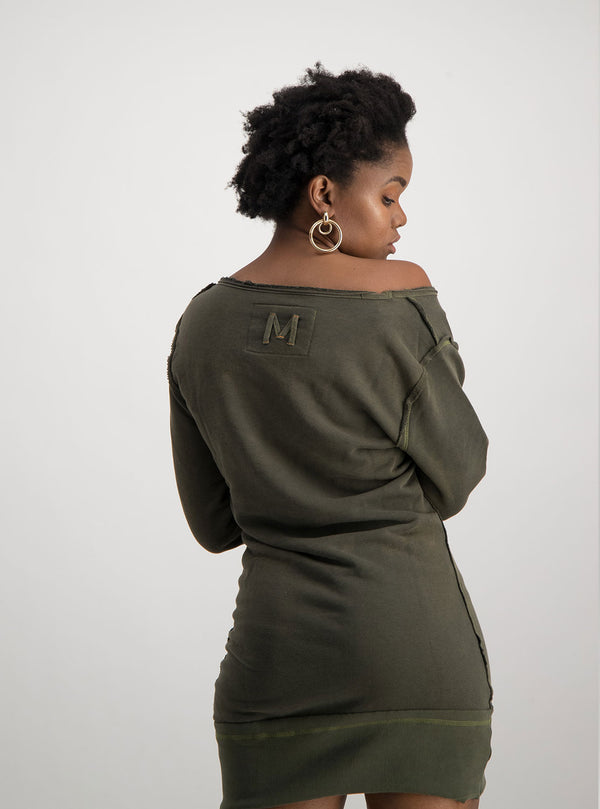 Olive Sweater Dress - magents