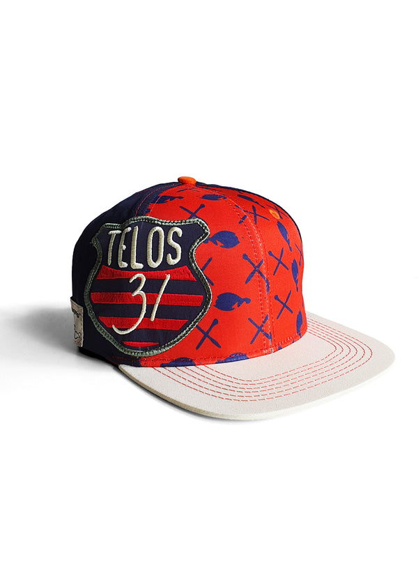 TELOS FITTED FLAT PEAK CAP - MULTI - magents