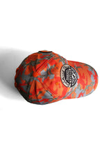 ORANGE MAGENTS CAMO AOP BENT PEAK CAP - ORANGE - magents