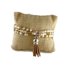 Load image into Gallery viewer, Buttercream Seed Bead and Tassel