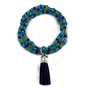 Ocean Seed Bead and Tassel