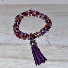 Load image into Gallery viewer, Plum Seed Bead and Tassel