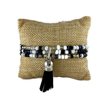 Load image into Gallery viewer, Tuxedo Mix Seed Bead and Tassel