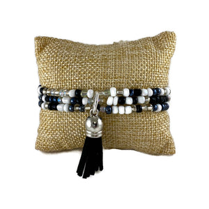 Tuxedo Mix Seed Bead and Tassel