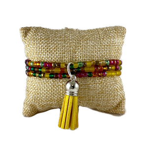 Autumn  Mix Seed Bead and Tassel