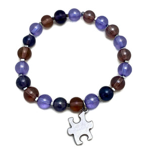 Autism Awareness Series - Purple Glass