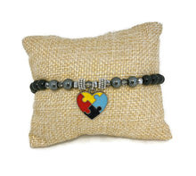 Load image into Gallery viewer, Autism Heart Bracelet