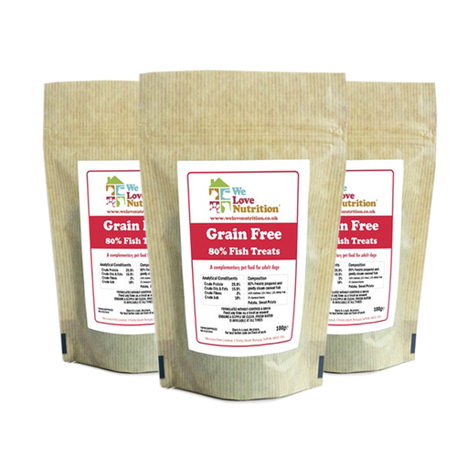 Grain Free 80% Fish Dog Treats 6 x 100g