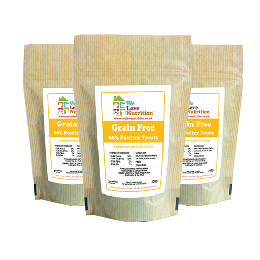 Grain Free 80% Poultry Dog Treats 3 x 500g