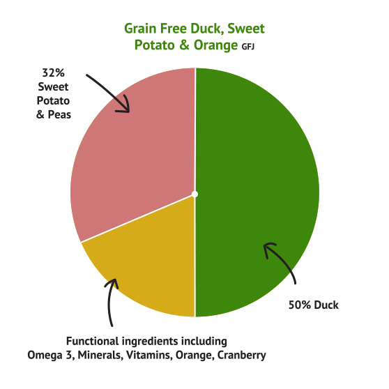 Grain Free Duck with Sweet Potato & Orange
