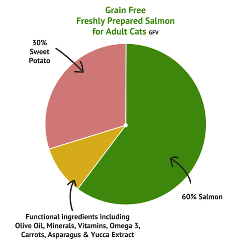 Grain Free Salmon with Sweet Potato Cat Food