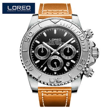 Load image into Gallery viewer, LOREO Men's Watches Top Brand Luxury Sapphire Automatic Mechanical Watch Men Stainless steel 200 Waterproof Blue Dial Watch