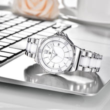 Load image into Gallery viewer, Silver women's watch by Pagani Design angle 2