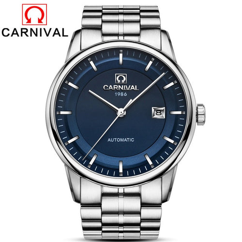 Carnival Silver Watch for Men in Classical Style
