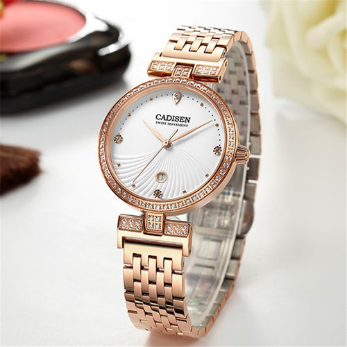 Luxury Womens Watch with Quartz stainless Steel Design