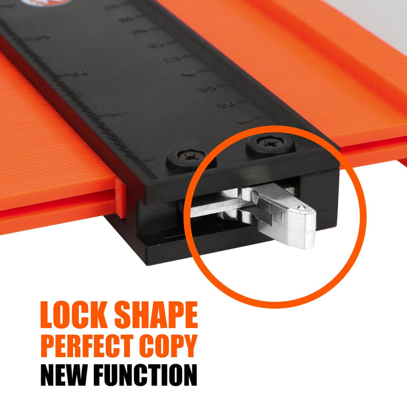 Saker® Contour Gauge Profile Tool -Precisely Copy Irregular Shape Duplicator