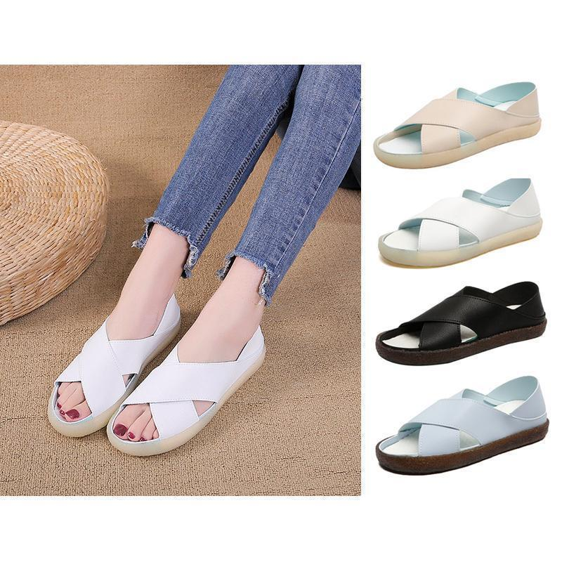 Women's soft bottom shoes in solid color