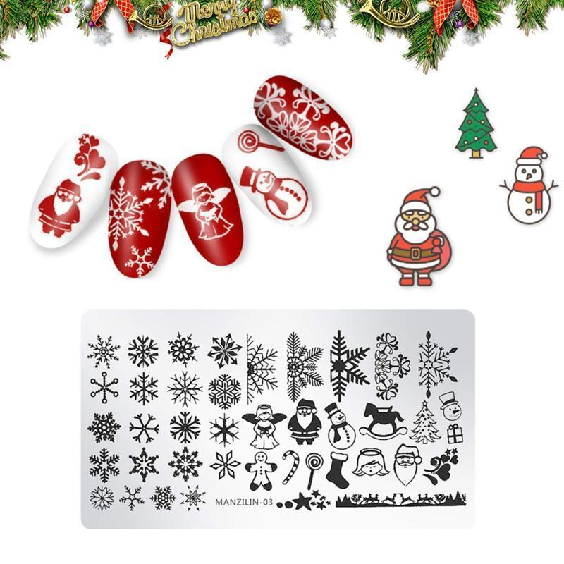 Nail Art Stamping Template--Christmas Style