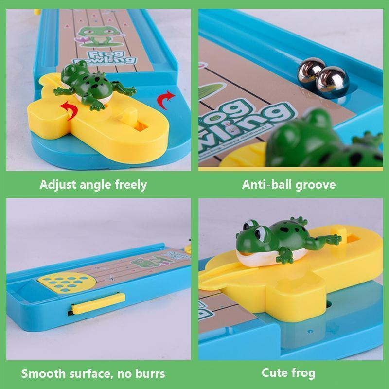 Cadevot™ Creative Mini Frog Bowling Table