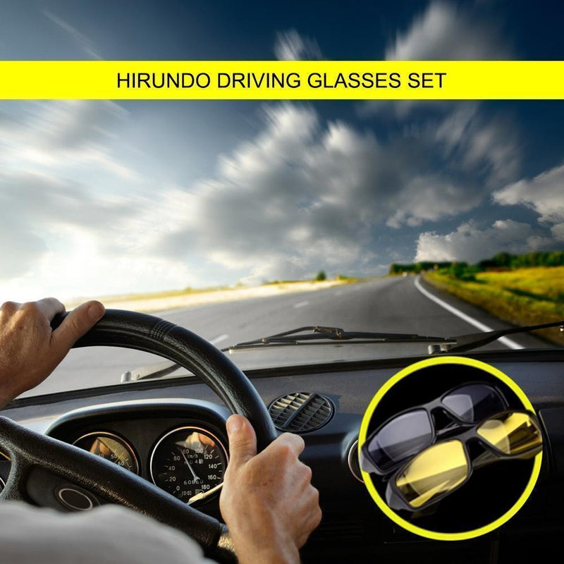 Hirundo  Day&Night Driving Glasses Set (2 Pairs)