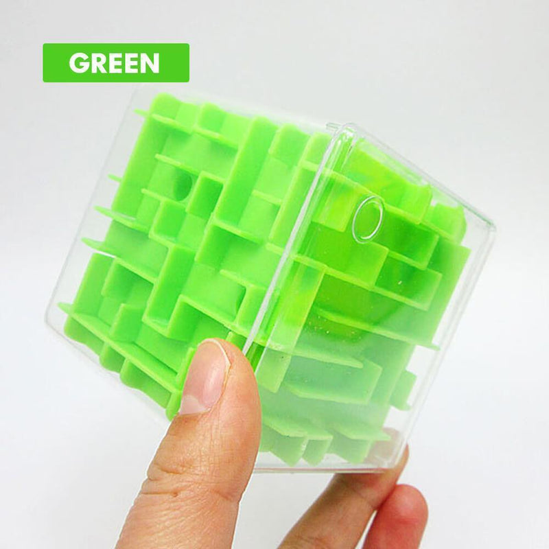 3D Cube Puzzle Maze Toy (Random Color)
