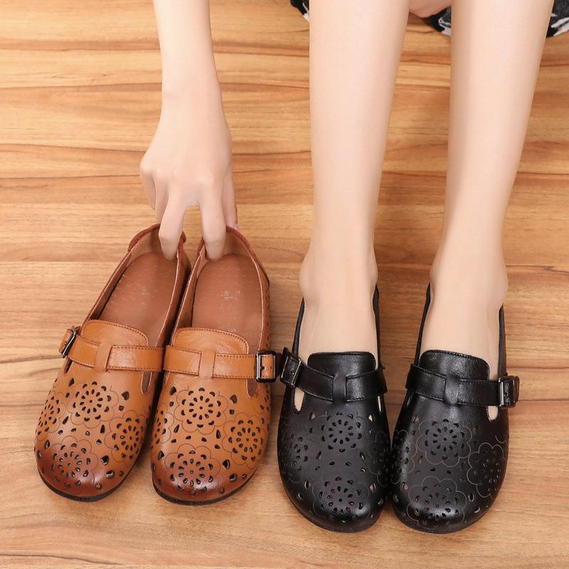 Flower Hollow Flat Shoes