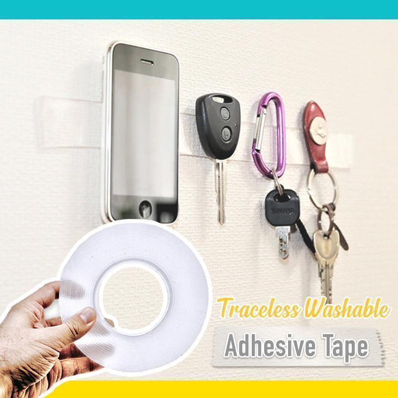 Traceless, Washable & Adhesive Tape