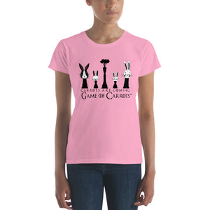 "WOMEN'S GAME OF CARROTS ""CARROTS ARE COMING"" T-SHIRT"