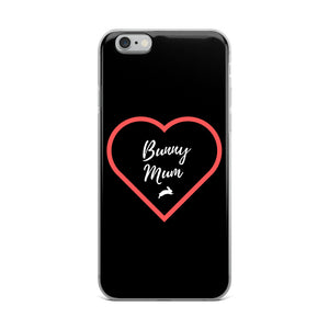 Heart Bunny Mum iPhone Case (Black)