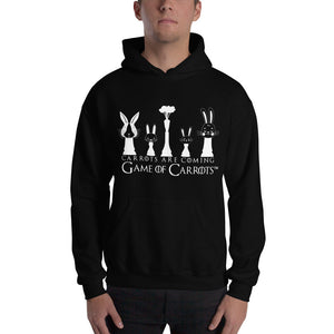 "UNISEX GAME OF CARROTS ""CARROTS ARE COMING"" HOODIE"