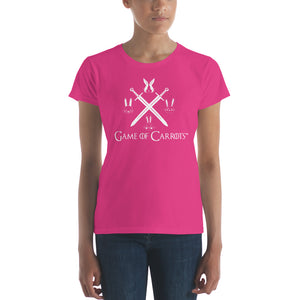 "WOMEN'S GAME OF CARROTS ""BUNNIES & SWORDS"" T-SHIRT"