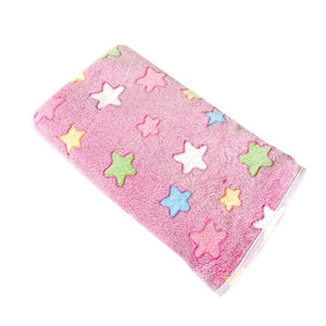 Soft Flannel Fleece Star Printed Bunny Blanket